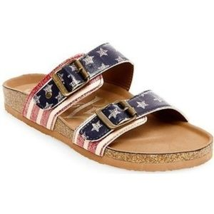 Mad Love American Flag Sandals